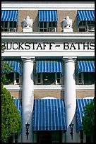 Blue shades, Buckstaff Baths. Hot Springs National Park ( color)