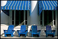 Blue chairs, windows, and shades, Buckstaff Baths. Hot Springs National Park ( color)