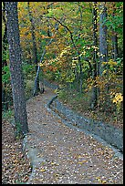 Built trail and fall colors, Hot Spring Mountain. Hot Springs National Park ( color)