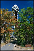 Hot Springs Mountain Tower in the fall. Hot Springs National Park ( color)