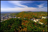 View over Hot Springs Mountain and West Mountain in the fall. Hot Springs National Park ( color)