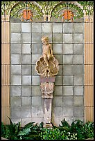 Cherub fountain adorning lobby, Fordyce Baths. Hot Springs National Park ( color)