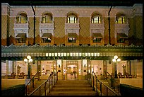 Fordyce Bathhouse facade at night. Hot Springs National Park ( color)
