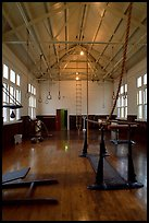 Gym inside Fordyce Bathhouse. Hot Springs National Park ( color)