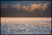 Frozen Lake Michigan at sunrise. Indiana Dunes National Park ( color)