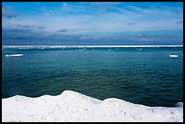 Open water and shelf ice, Lake Michigan. Indiana Dunes National Park ( color)