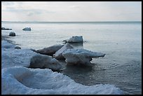 Lakeshore with shelf ice. Indiana Dunes National Park ( color)