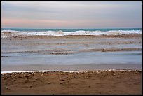 Beach in winter with ice. Indiana Dunes National Park ( color)
