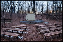 Amphitheater, Dunewood Campground. Indiana Dunes National Park ( color)