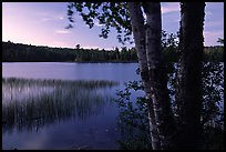 West Chickenbone lake at dusk. Isle Royale National Park ( color)