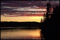 Lake Chippewa at sunset. Isle Royale National Park ( color)