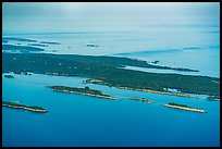 Aerial View of islands and Isle Royale. Isle Royale National Park ( color)