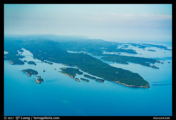 Aerial View of Blake Point and archipelago. Isle Royale National Park (color)