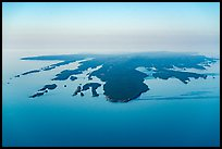 Aerial View of Isle Royale with aligned ridges. Isle Royale National Park ( color)