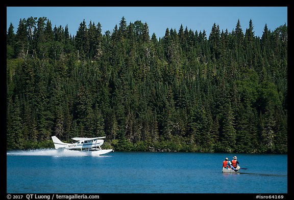 Seaplane and canoe. Isle Royale National Park (color)