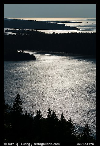 Duncan Bay from Louise Lookout, afternoon. Isle Royale National Park (color)