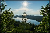 View from Louise Lookout looking into the sun. Isle Royale National Park ( color)