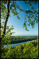 View from Louise Lookout in the summer. Isle Royale National Park ( color)