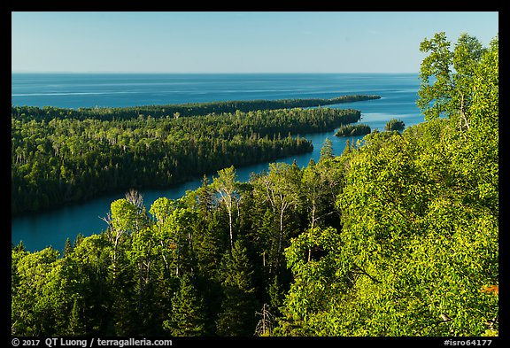 Locke Point from Louise Lookout, afternoon. Isle Royale National Park (color)