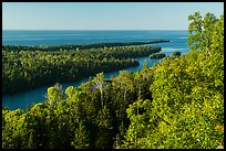 Locke Point from Louise Lookout, afternoon. Isle Royale National Park ( color)