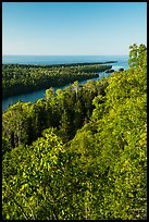 Tip of Isle Royale from Louise Lookout. Isle Royale National Park ( color)