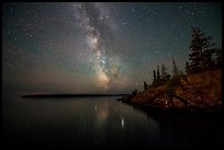 Milky Way, Smithwitck Island, Rock Harbor shores. Isle Royale National Park ( color)