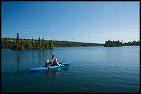 Kayakers, Tobin Harbor. Isle Royale National Park ( color)