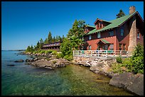 Rock Harbor Lodge. Isle Royale National Park ( color)