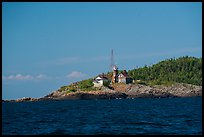 Passage Island and Lighthouse. Isle Royale National Park ( color)