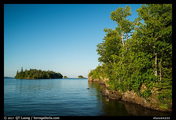 Shaw Island from Tookers Island. Isle Royale National Park (color)