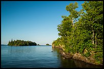 Shaw Island from Tookers Island. Isle Royale National Park ( color)