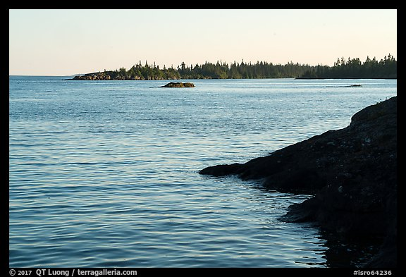 Outer islands from Tookers Island. Isle Royale National Park (color)
