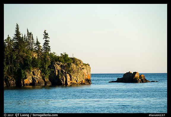 Sea cliffs and rocks, outer island. Isle Royale National Park (color)