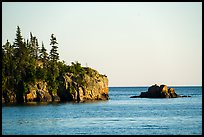 Sea cliffs and rocks, outer island. Isle Royale National Park ( color)