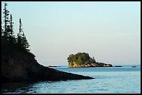 Outer islands and rocks from Tookers Island. Isle Royale National Park ( color)