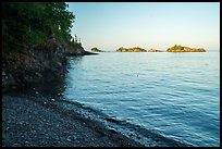 Beach and outer islands, late afternoon, Tookers Island. Isle Royale National Park ( color)