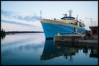 Ranger 3 national park service ferry moored at Rock Harbor. Isle Royale National Park ( color)