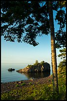 Tree, offshore islet, and Lake Superior, Mott Island. Isle Royale National Park ( color)