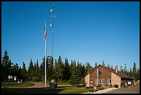 National Park Service headquarters, Mott Island. Isle Royale National Park ( color)