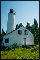 Close view of Rock Harbor Lighthouse. Isle Royale National Park ( color)