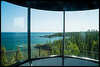 View from inside top of Rock Harbor Lighthouse. Isle Royale National Park ( color)