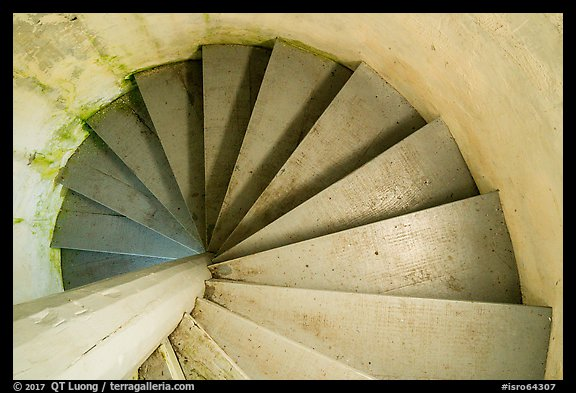 Rock Harbor Lighthouse staircase. Isle Royale National Park (color)