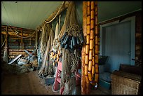 Net House interior, Edisen Fishery. Isle Royale National Park ( color)