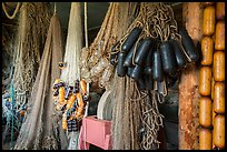 Fishing nets in Net House, Pete Edisen Fishery. Isle Royale National Park ( color)