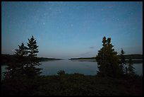 Dusk, Moskey Basin. Isle Royale National Park ( color)