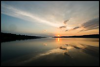 Sun rising over Moskey Basin,. Isle Royale National Park ( color)