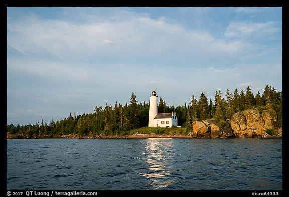 Rock Harbor Lighthouse, early morning. Isle Royale National Park (color)