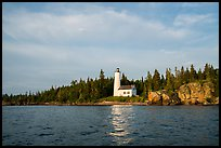 Rock Harbor Lighthouse, early morning. Isle Royale National Park ( color)