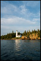 Rock Harbor Lighthouse 1855. Isle Royale National Park ( color)
