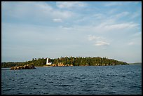 Distant view of Rock Harbor Lighthouse. Isle Royale National Park ( color)